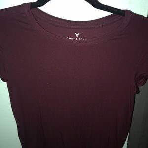 Soft and sexy maroon tee